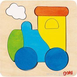 Dřevěné puzzle nadesce – Lokomotiva