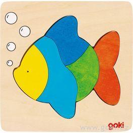 Dřevěné puzzle nadesce – Ryba