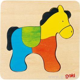 Dřevěné puzzle nadesce – Kůň
