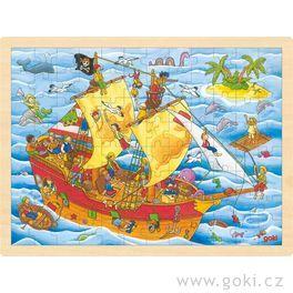 Puzzle nadesce – Pirátská loď, 96dílů