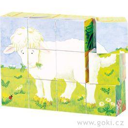 Kostky vdřevěné krabičce – Mláďata