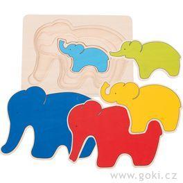 Vícevrstvé puzzle – Slon