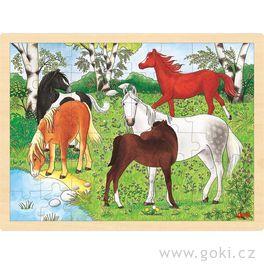 Puzzle nadesce – Koně, 48dílů