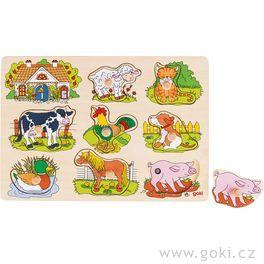 Puzzle sezvukem – Domácí zvířátka