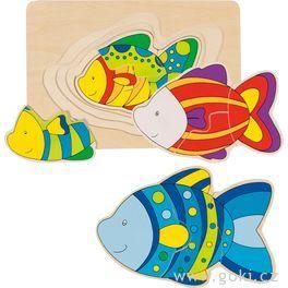 Vícevrstvé puzzle – Ryba, 11dílů
