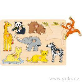 Puzzle sdřevěnými úchytkami – Mláďata zvířat III