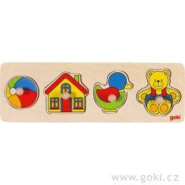 Puzzle sdřevěnými úchytkami – Hračky