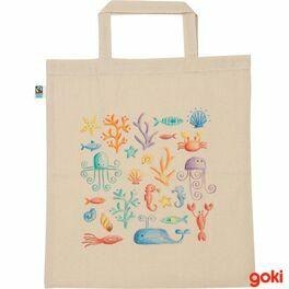 Bavlněná taška kvymalování velká, fairtrade