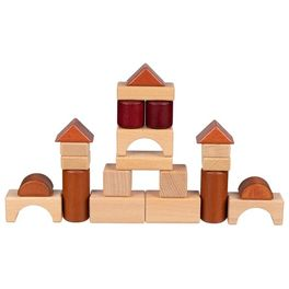 Stavební kostky vedřevěném rámu, 46dílů