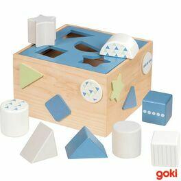 Dřevěná vkládačka – Lifestyle modrá