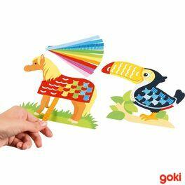 Provlékací hračka zpapíru, 100dílů