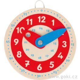 Dřevěné hodiny, 10cm
