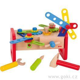 Dřevěný stolek – ponk proděti, 36dílů