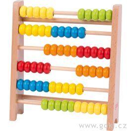 Dřevěné počítadlo, 60kroužků