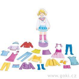 Oblékací panenka – magnetická šatní skříň
