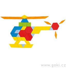 Skládačka puzzle geometrické tvary, 250ks