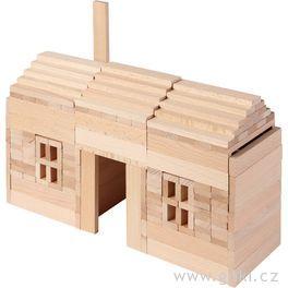 Stavební kostky přírodní, 200ks