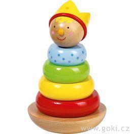 Princ – skládačka věž, motorická hračka
