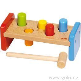Zatloukačka – dřevěná hračka