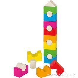 Duhová věž – stavební kostky, 19dílů