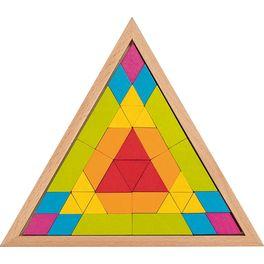 Skládačka mozaika – trojúhelník, 37dílů