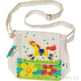 Fair trade výrobek – Bavlněná taška přes rameno kvymalování