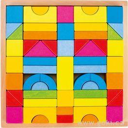Stavební kostky – Duhové barvy, 57dílů