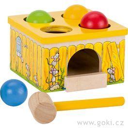 Dřevěná zatloukačka – Chyť myšku!