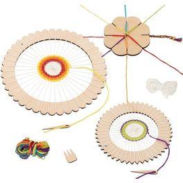 Setprotvoření –kulatý tkalcovský rám +kytka
