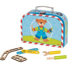 Konstrukční kufřík – montér medvídek