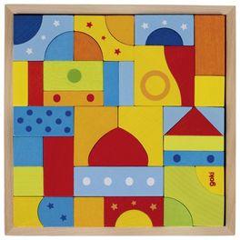 Puzzle astavební kostky pastelové barvičky, 39dílů