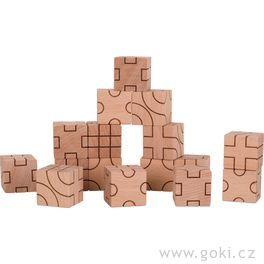 Stavební kostky – Geometrie, 16dílů