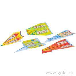 Skládačka zpapíru – letadlo, 10barevných papírů