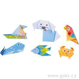Skládačka zpapíru – origami zvířátka, 14ks