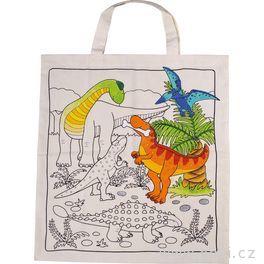 Bavlněná taška kvymalování – Dinosauři