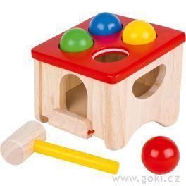 Dřevěná zatloukačka – Chyť kuličku!
