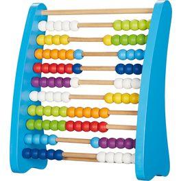 Počítadlo se100dřevěnými perličkami barevné
