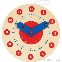 Dřevěné výukové hodiny, 18cm