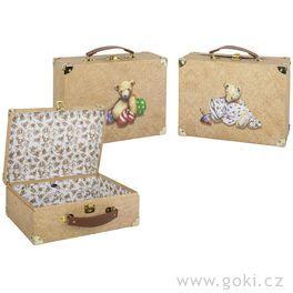 Sada 3dětských kufrů smotivem medvídka +samolepky