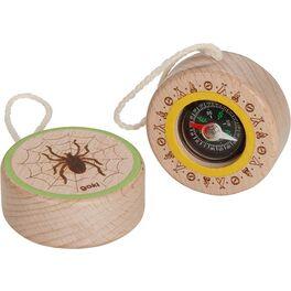 Dřevěný kompas spavoučkem