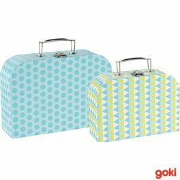 Sada 2dětských kufrů –modré vzory
