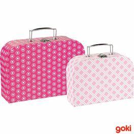 Sada 2dětských kufrů –růžové vzory