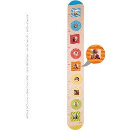Dětský dřevěný metr –barevné rámečky nafotky