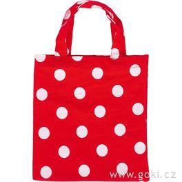Červená spuntíky – malá taška zbavlny, 4ks