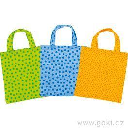 Malé bavlněné tašky, 9ks