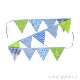 Vlaječky modro-zelené, 220cm