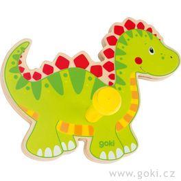 Dřevěný věšáček – dinosaurus