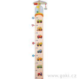 Dětský dřevěný metr – autíčka aznačky, 105cm
