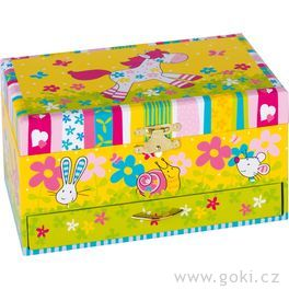 Hrací skříňka ašperkovnice Susibelle, melodie Twinkle little star