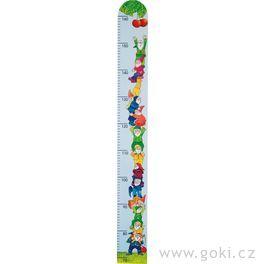 Dětský dřevěný metr – trpaslíci, 99cm